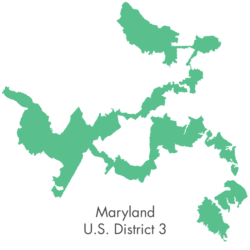 The bizarre shape of Maryland district 3