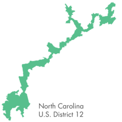 The bizarre shape of North Carolina district 12