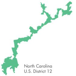 The bizarre shape of North Carolina district 12