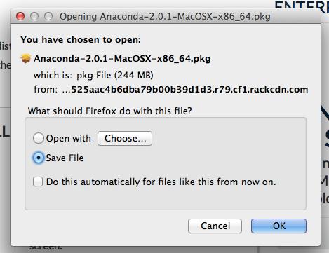 Anaconda package download