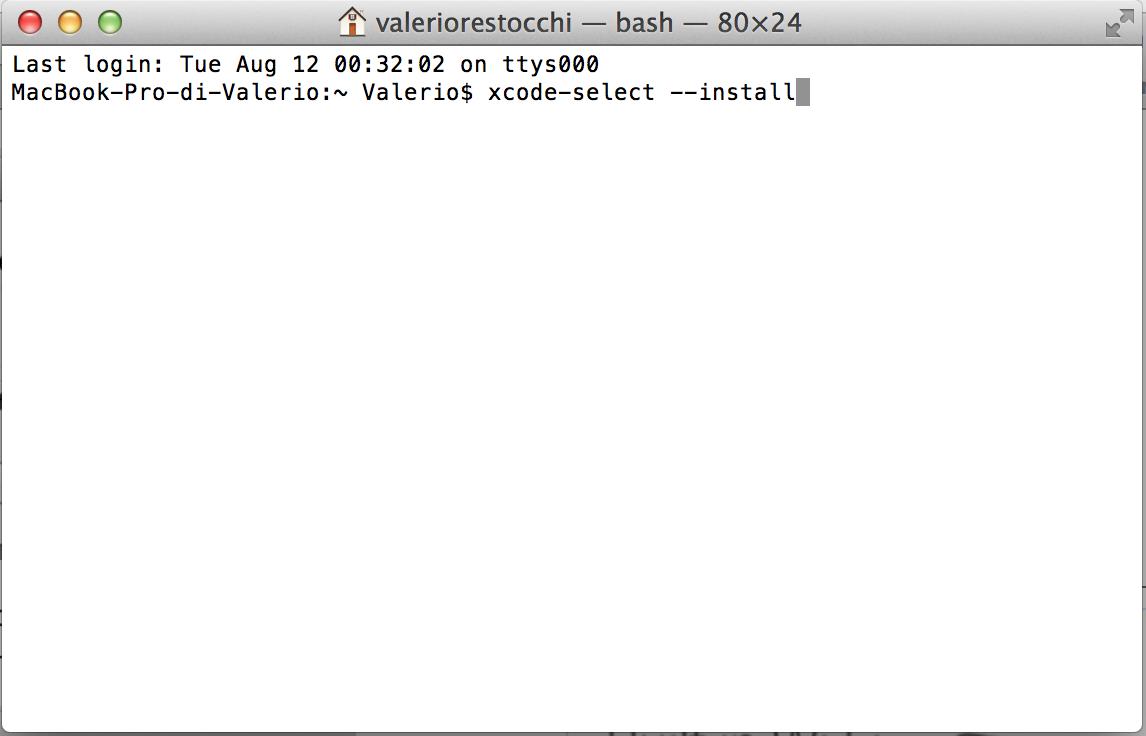 Terminal on OS X