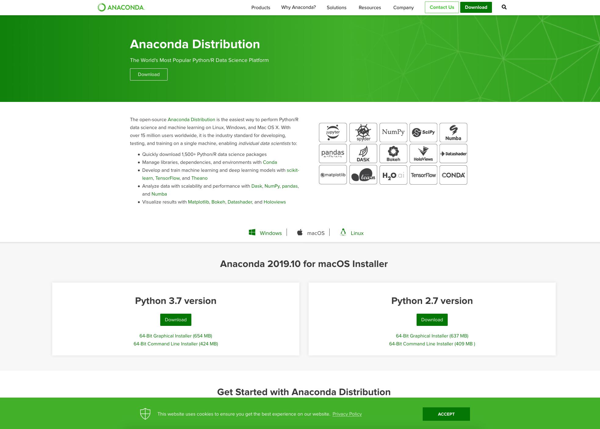 Continuum Analytics home page