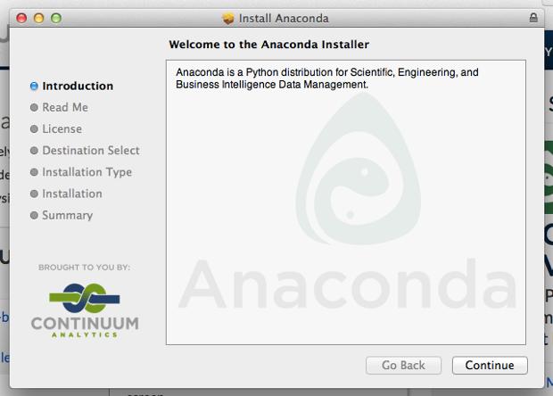 Anaconda initial installation