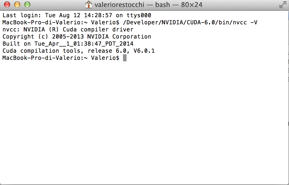 Installing Nvidia CUDA on Mac OSX for GPU-Based Parallel Computing