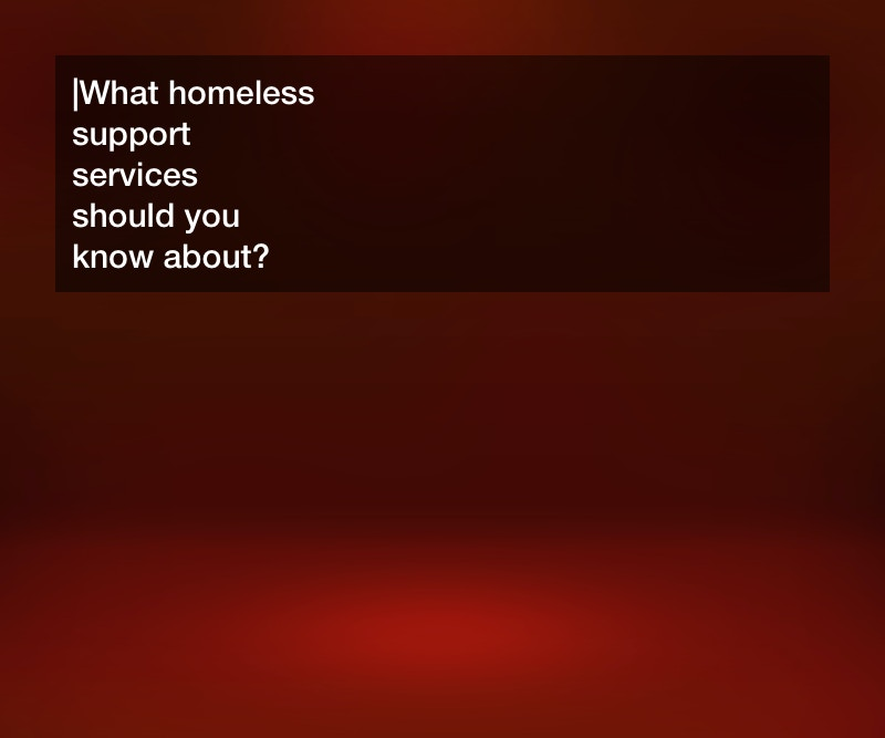 homeless support services
