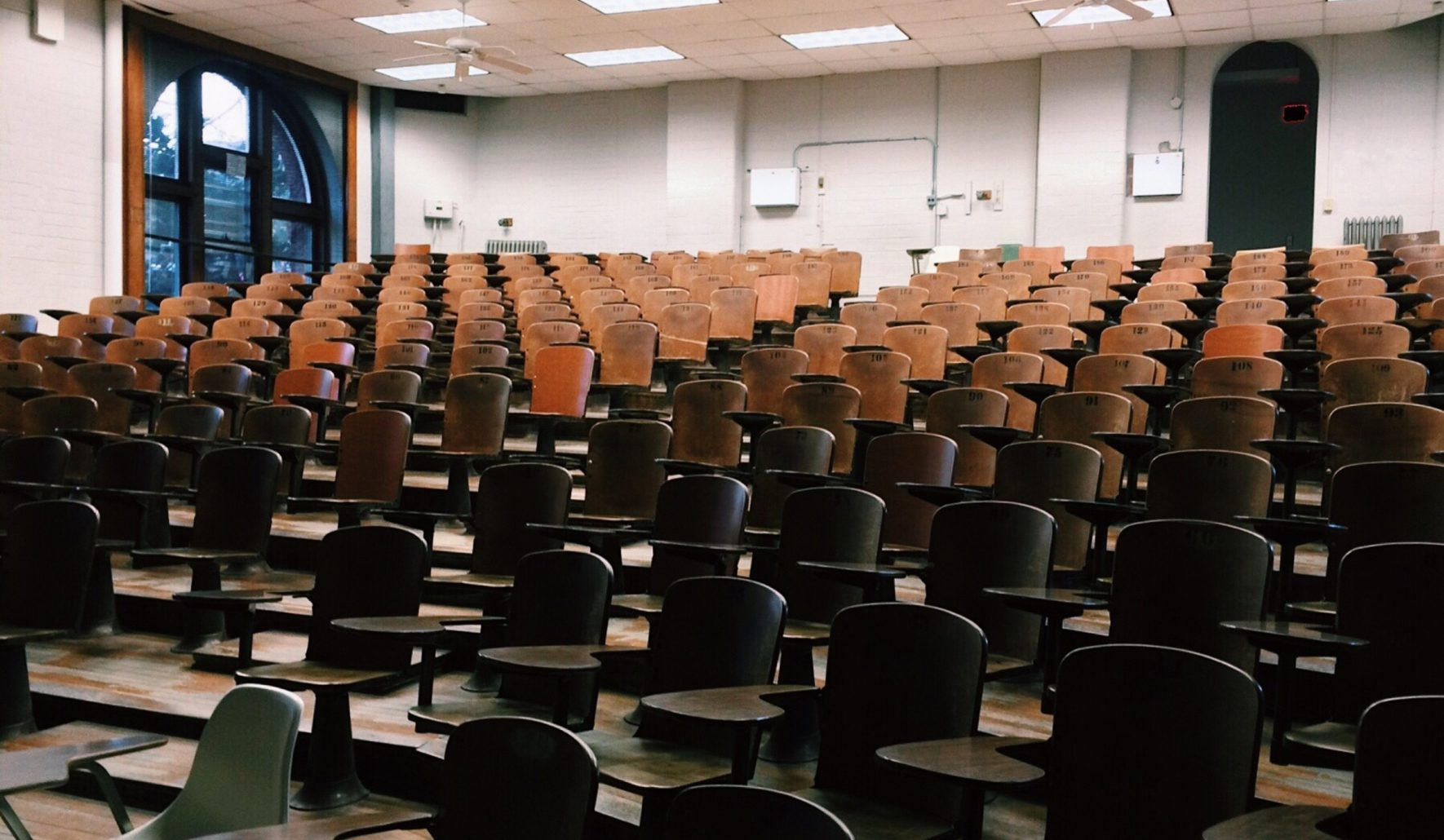 empty auditorium to express HR Challenges In Higher Education