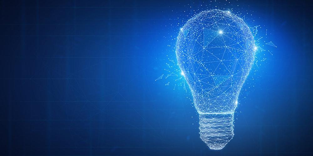A light bulb graphic