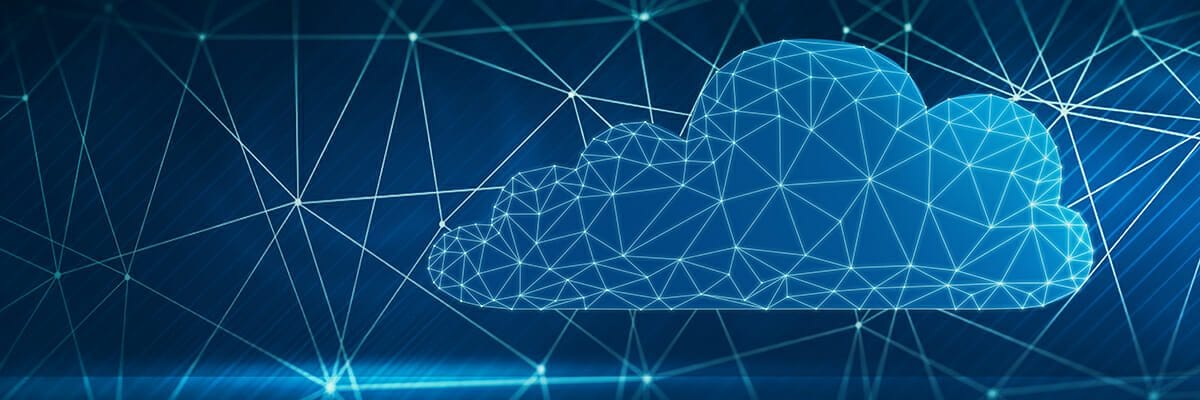 Image of cloud with lines and connections drawn on top