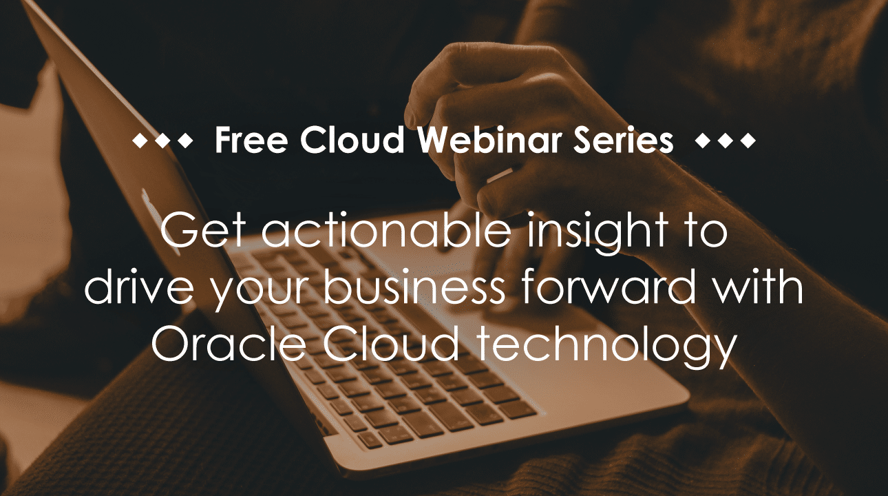 Promotional image for free cloud webinar series for ERP Cloud Day