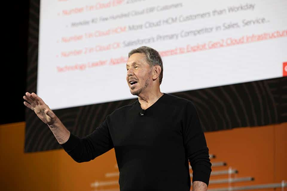 Larry Ellison, Oracle Chairman and CTO