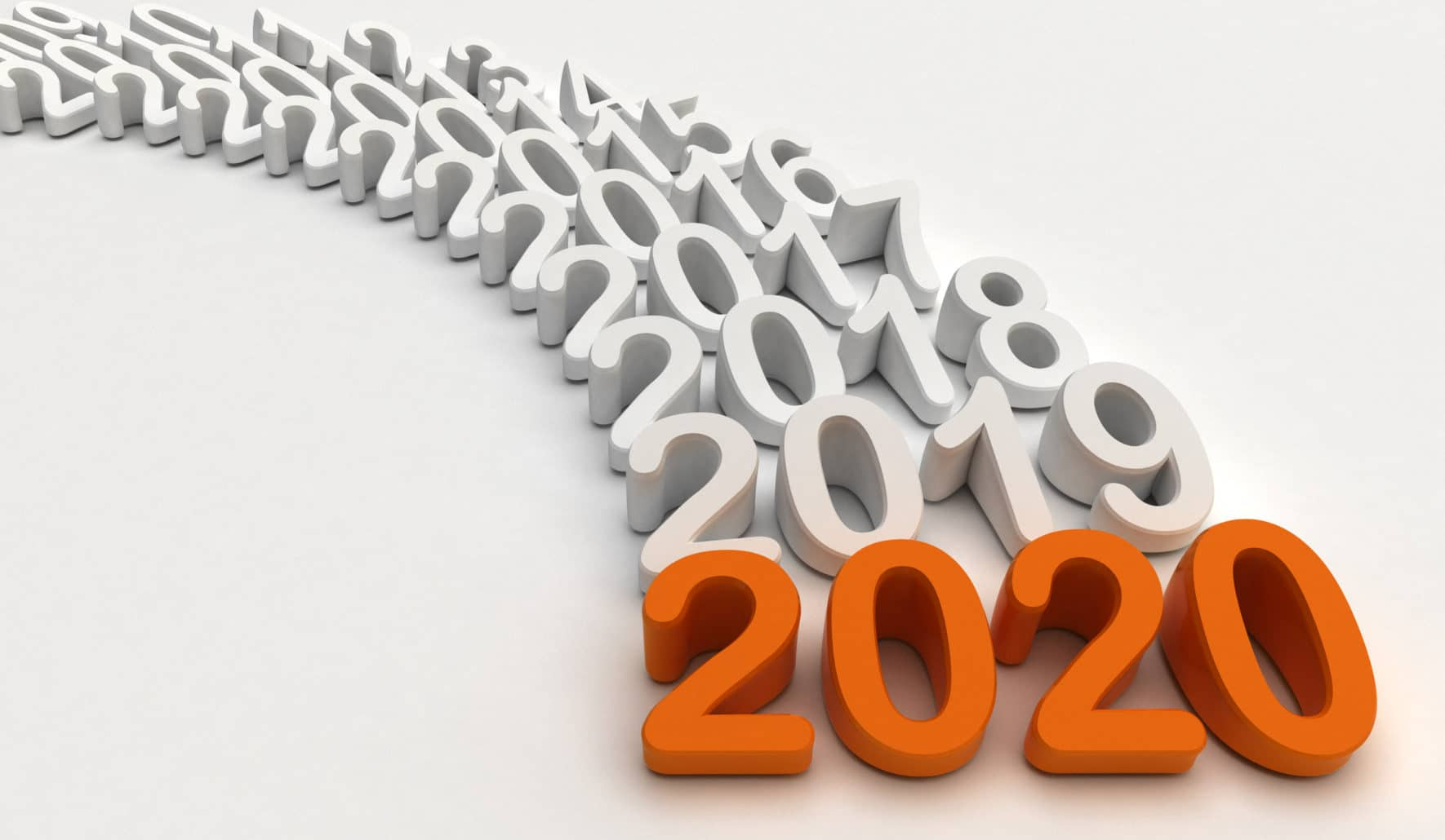 Graphic of the years leading up to 2020