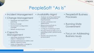 PeopleSoft As Is