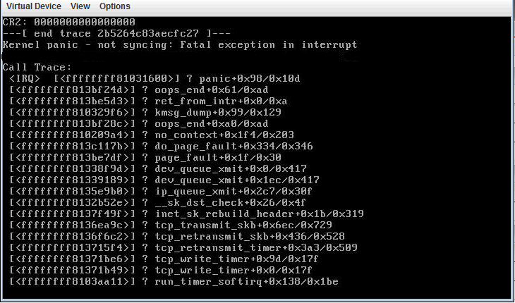 Kernel Panic Messages