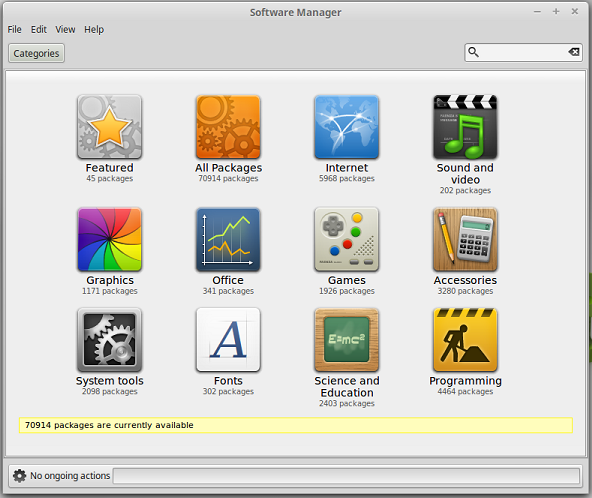 Linux software manager