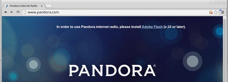 Pandora on Chromium