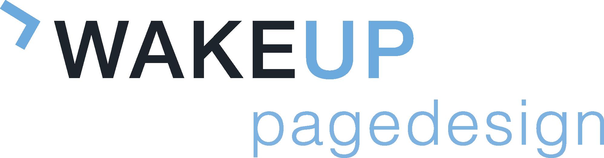 wake up page design