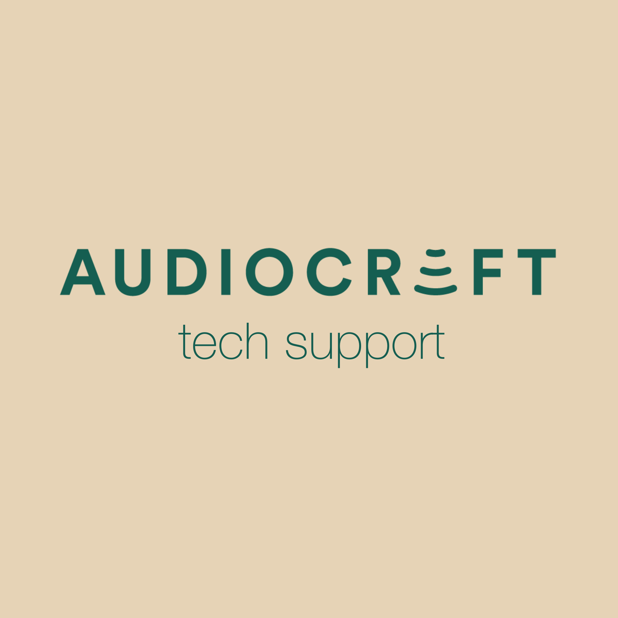 Audiocraft Tech Support