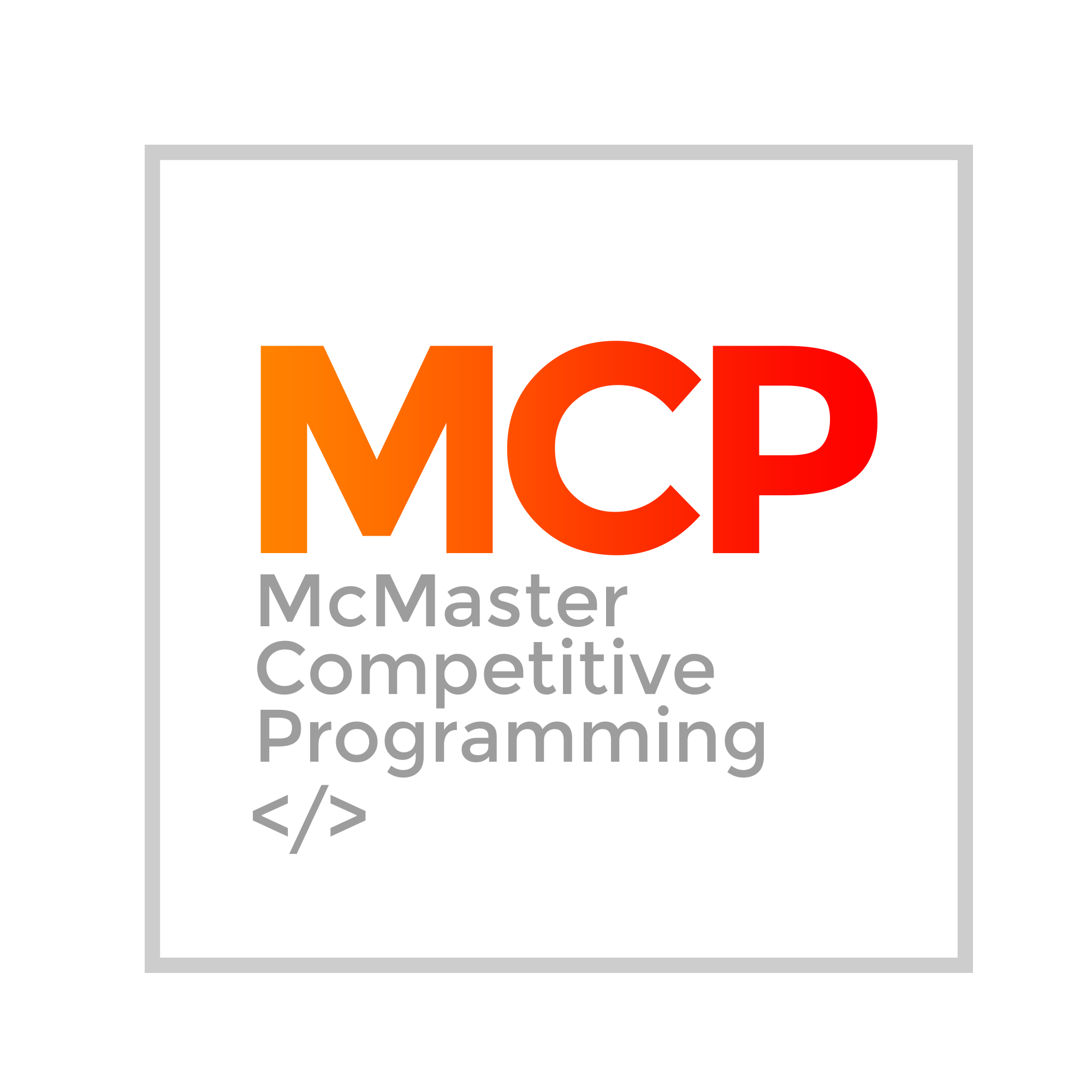 McMaster Competitive Programming