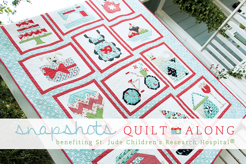 Snapshots Quilt-Along a block of the month by Kimberly Jolly of Fat Quarter Shop Blog | from QuiltAlong.net