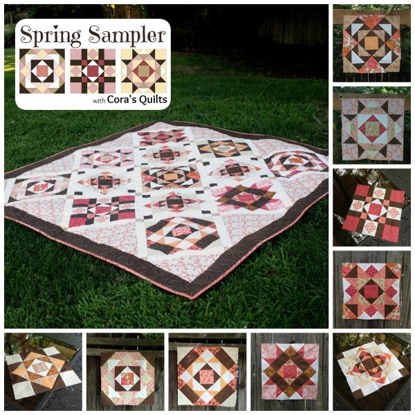 2014 Spring Sampler Quilt Along a quilt along by Shelley of Cora's Quilts | from QuiltAlong.net