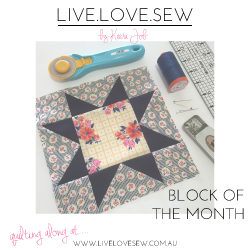 live.love.sew Block of the Month