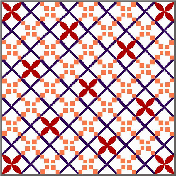 Irish Chain Twist a quilt along by Melissa Corry of Happy Quilting | from QuiltAlong.net