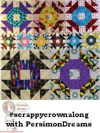 Scrappy Crown Quilt Along a quilt along by Kim Lapacek of  Persimon Dreams | from QuiltAlong.net