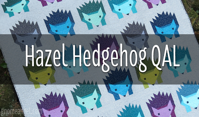Hazel the Hedgehog QAL a quilt along by Angie of Gnome Angel | from QuiltAlong.net