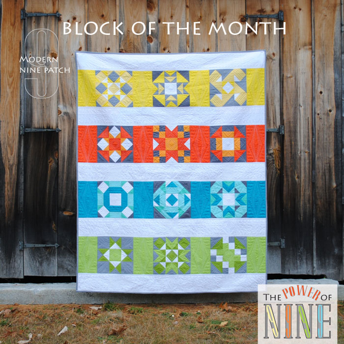 Power of 9 BOM a block of the month by Sherri Noel of Rebecca Mae Designs | from QuiltAlong.net