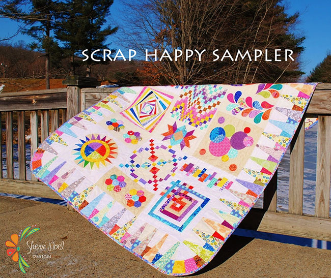 Scrap Happy Sampler a block of the month by Sherri Noel of Rebecca Mae Designs | from QuiltAlong.net