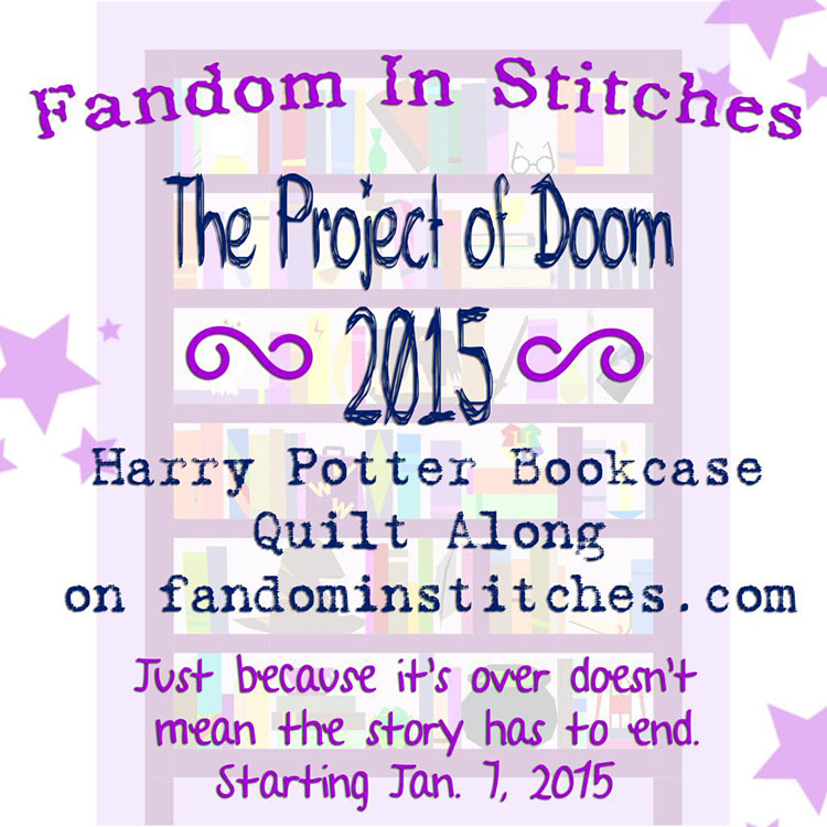 Project of DOOM - Harry Potter a block of the month by Jennifer of Fandom in Stitches | from QuiltAlong.net