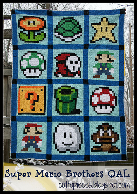 Super Mario Brothers Quilt Along