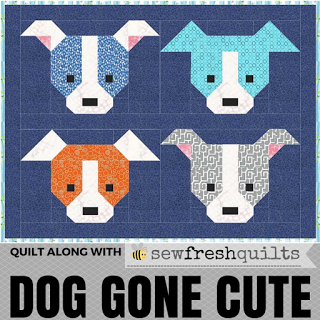 Dog Gone Cute a quilt along by Lorna McMahon of Sew Fresh Quilts | from QuiltAlong.net