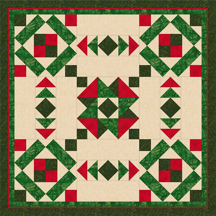Desert Bloom Quilting's Christmas Table Topper