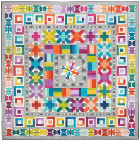 Aviatrix Medallion Quilt-Along a quilt along by Elizabeth Green Hartman of Oh Fransson! | from QuiltAlong.net