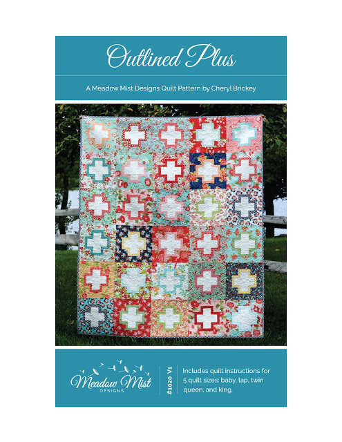 Outlined Plus Quilt Along a quilt along by Cynthia of Hayacinth Quilt Designs | from QuiltAlong.net