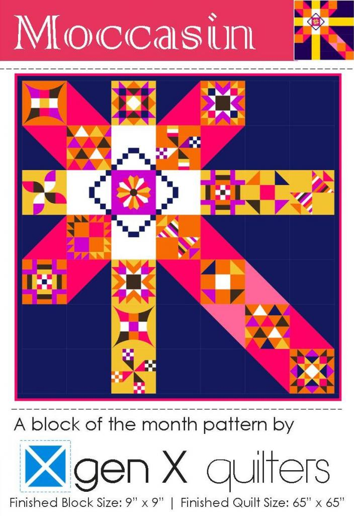 Moccasin Block of the Month Club a block of the month by AnneMarie of Gen X Quilters | from QuiltAlong.net