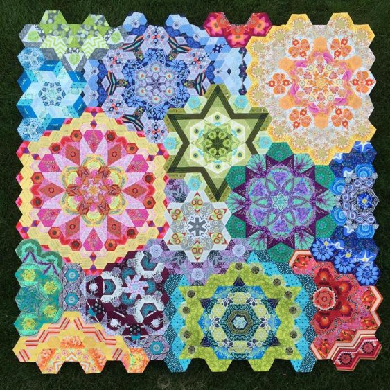 The New Hexagon Millefiore Quilt-Along a quilt along by Katja Marek of Katja's Quilt Shippe | from QuiltAlong.net
