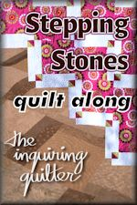 Stepping Stones a quilt along by Jennifer Fulton of The Inquiring Quilter | from QuiltAlong.net