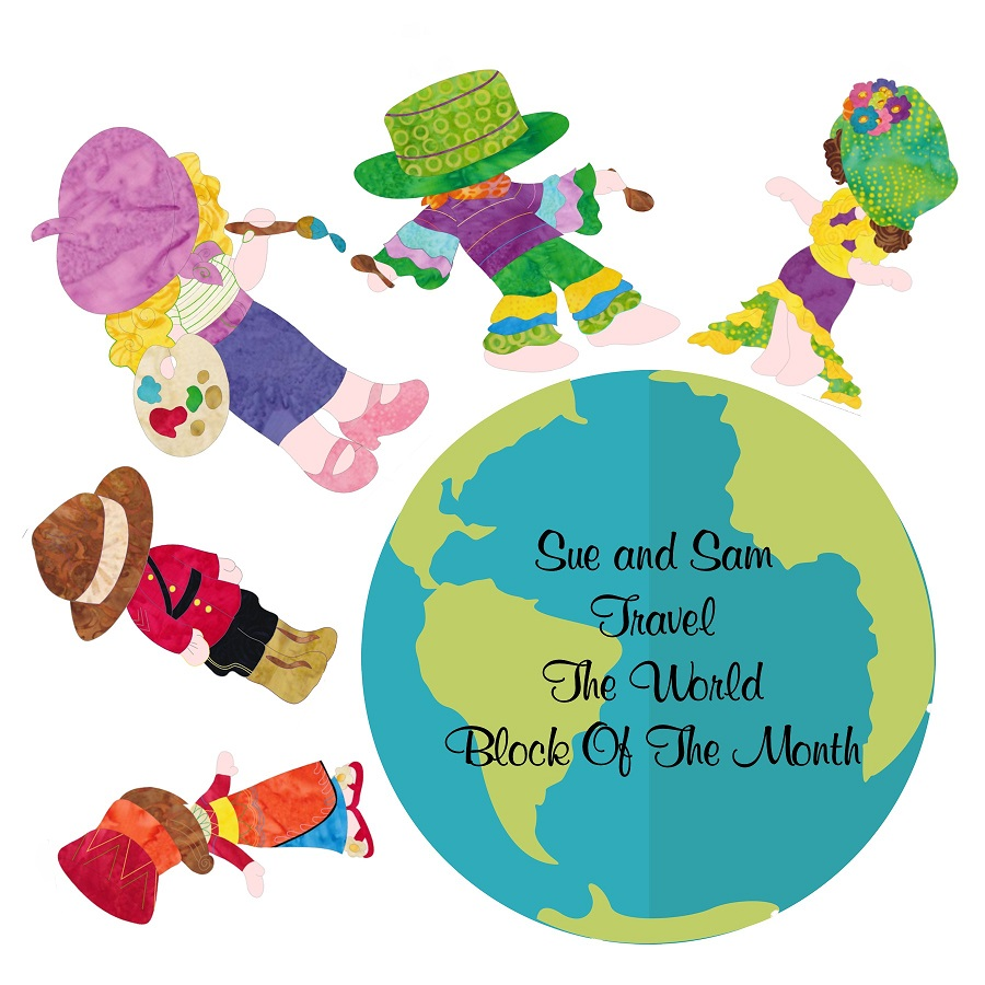 Sunbonnet Sue and Sam Travel The World