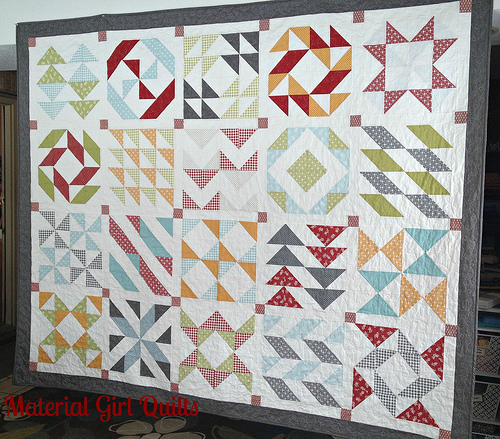 Layer Cake Sampler Quilt Along a quilt along by Amanda of Material Girl Quilts | from QuiltAlong.net