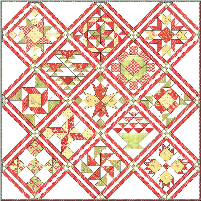 Apple Pie in the Sky Quilt Along