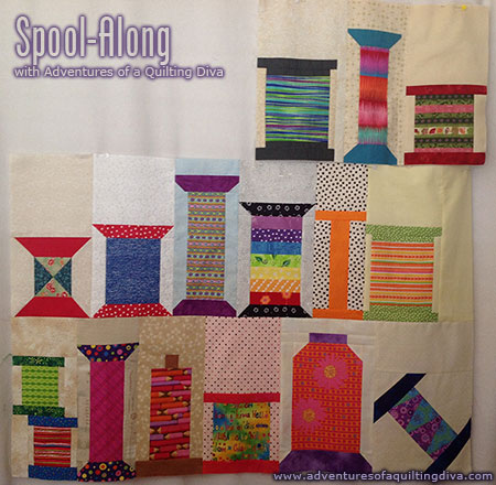 Spool Along a quilt along by Laura West Kong of adventures of a quilting diva | from QuiltAlong.net