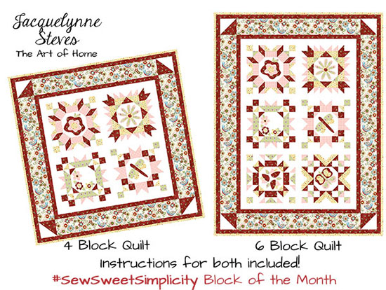 Sew Sweet Simplicity BOM a block of the month by Jacquelynne of Jacquelynne Steves The Art of Home | from QuiltAlong.net