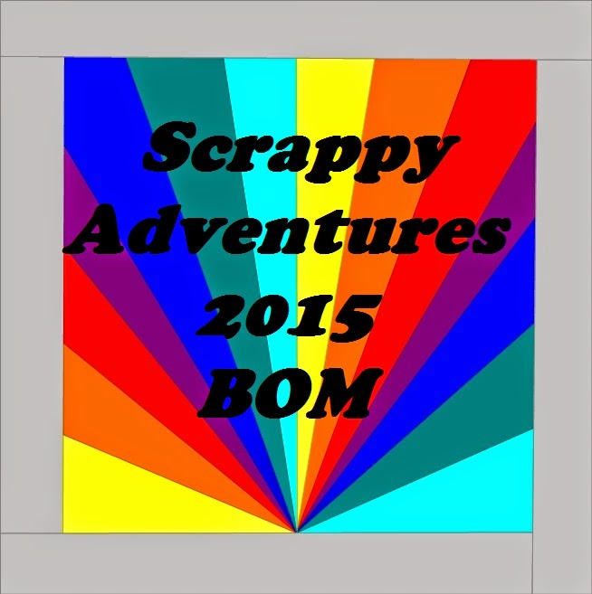 Scrappy Adventures 2015 BOM a block of the month by Marianne Jeffrey  of Adventurous Quilter | from QuiltAlong.net
