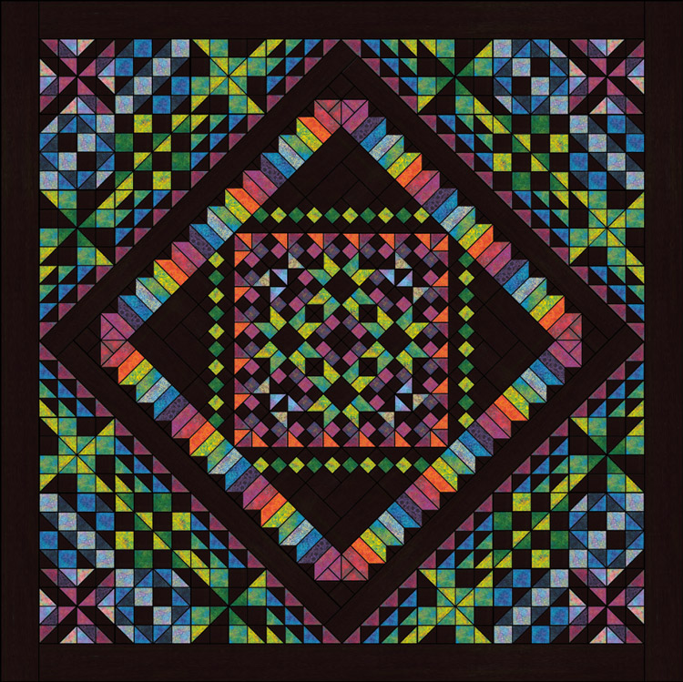 Calypso Kaleidoscope  a quilt along by Stephanie Soebbing of Quilt Addicts Anonymous | from QuiltAlong.net