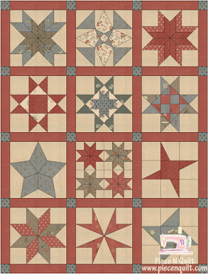 Star Quilt Along a block of the month by Natalia Bonner of Piece N Quilt | from QuiltAlong.net