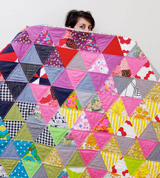 Triangle Quilt Along a quilt along by Cinta of My Poppet | from QuiltAlong.net