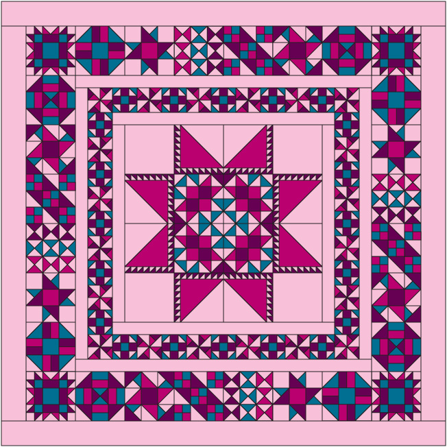 2014 Block of the Month a quilt along by Stephanie Soebbing of Quilt Addicts Anonymous | from QuiltAlong.net