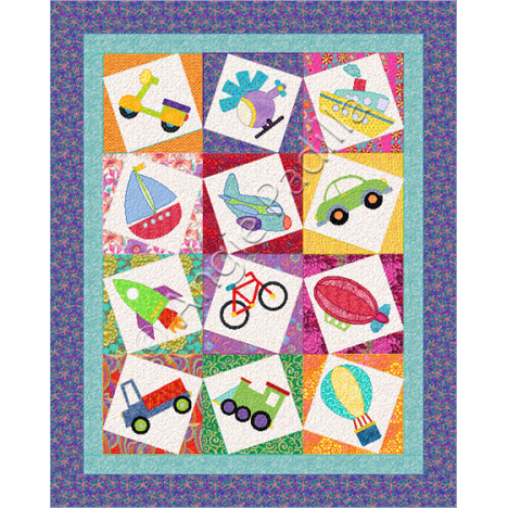 Let's Go! a block of the month by Angie Padilla of Angie's Bits 'n Pieces | from QuiltAlong.net